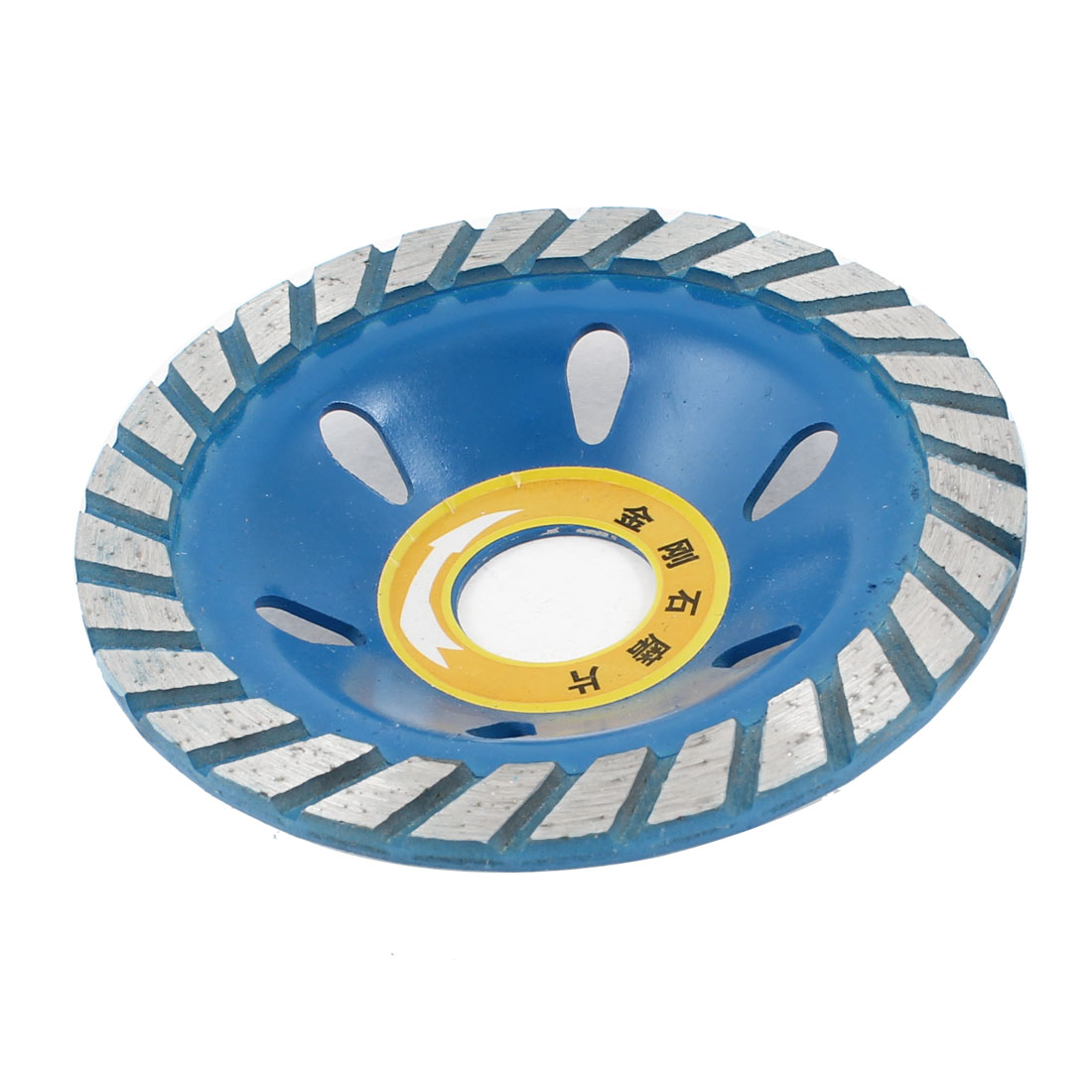 "22mm 0.8"" Diameter Arbor Hole Diamond Concave Grinding Wheel Blue"