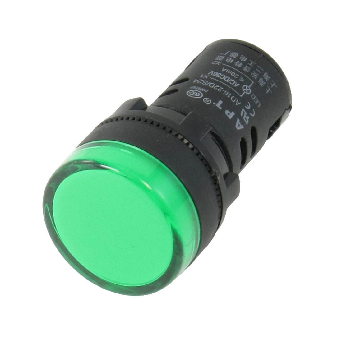 AC/DC 36V Green LED Power Indicator Pilot Single Light Lamp 22mm