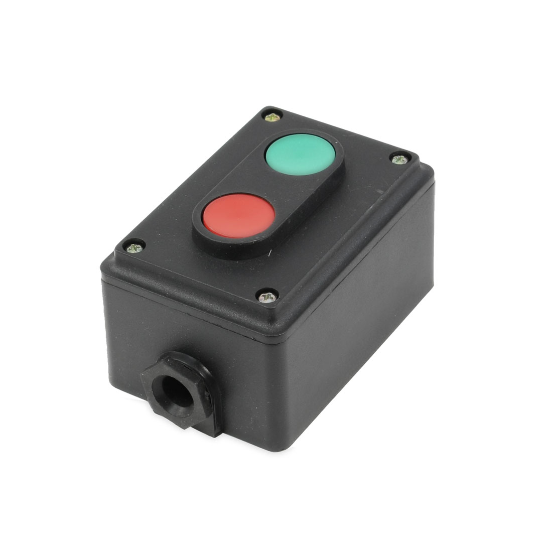 AC 380V 5A NO Momentary Red Green 2 Push Button Switch Station