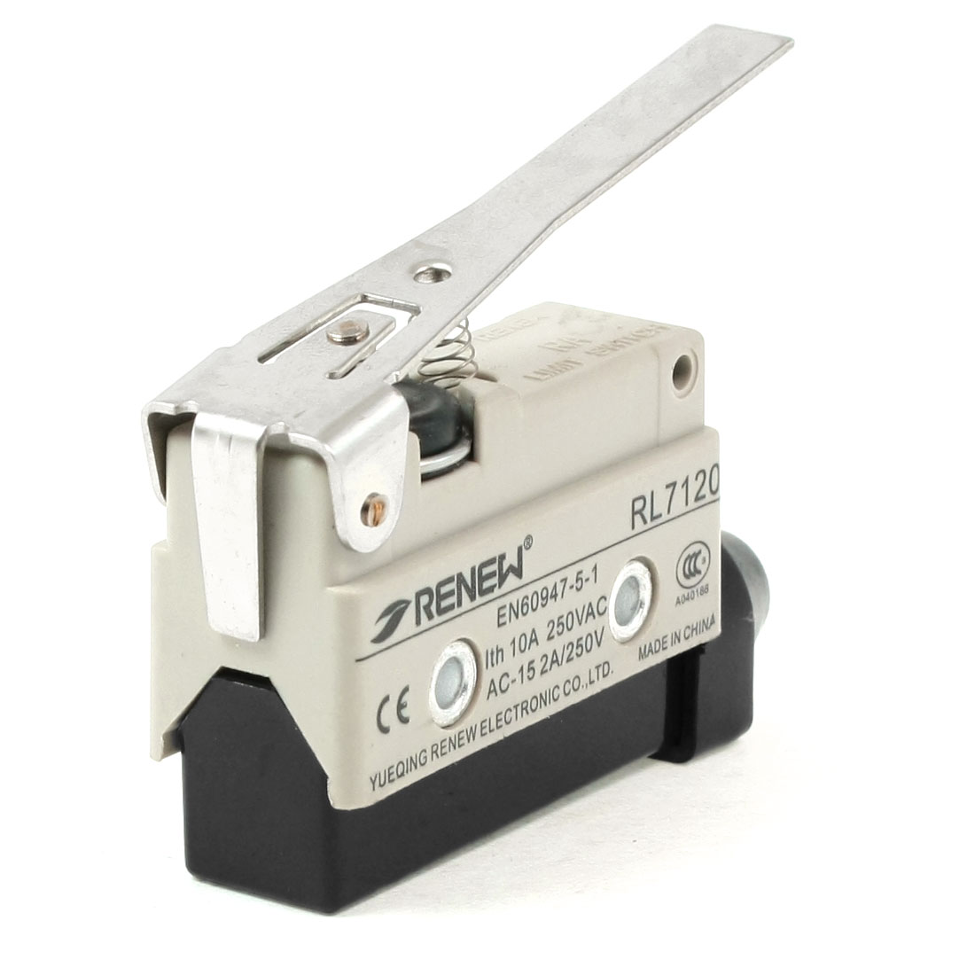 AC 250V 2A SPDT Long Straight Hinge Lever Momentary Limit Switch Microswitch