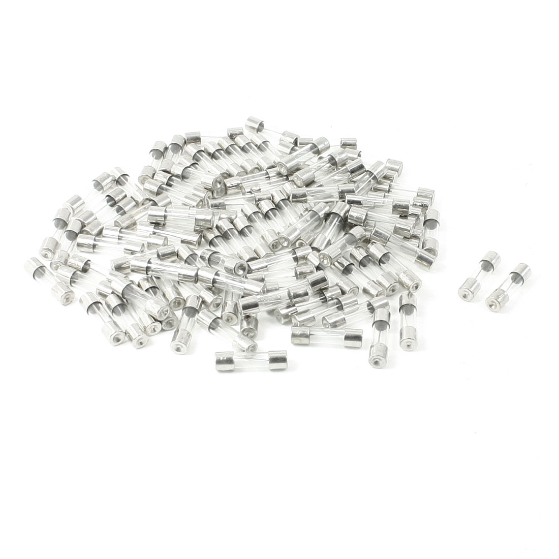 100 Pcs 250 Volts 10Amp Fast Blow Type Glass Tube Fuses 5 x 20mm