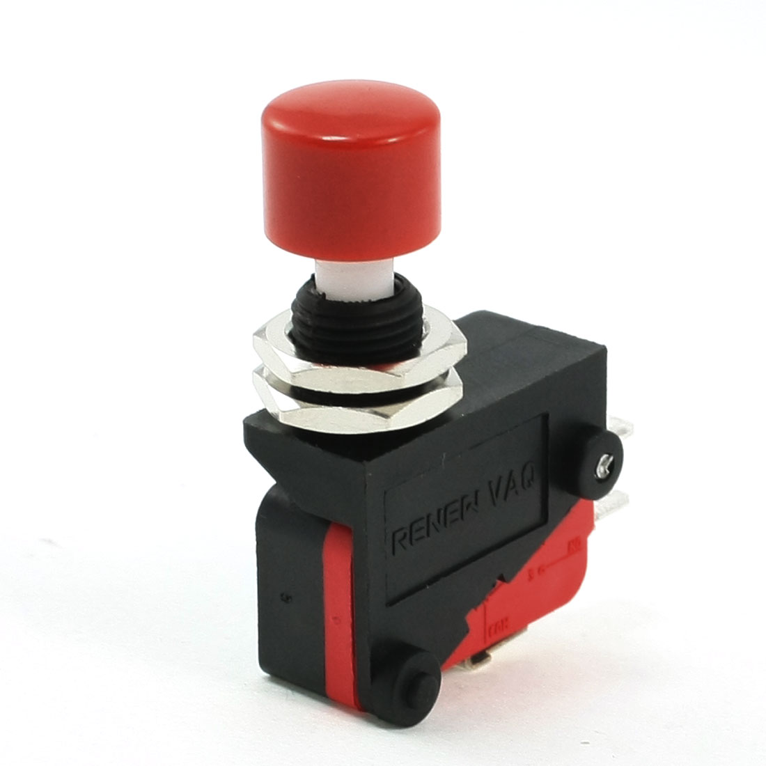 AC 250V 16A SPDT 3P Momentary Red Push Button Miniature Micro Limit Switch