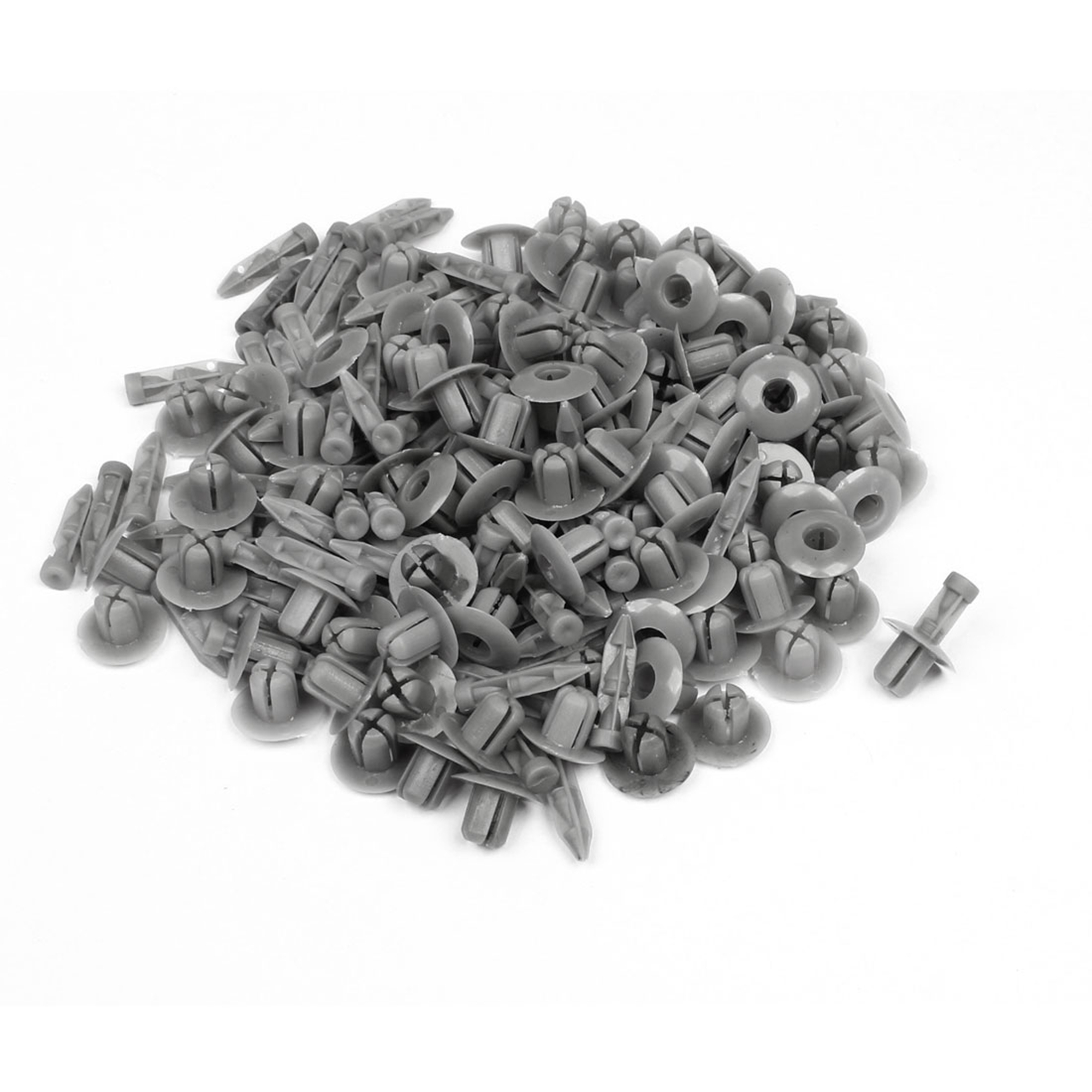 100 Pcs Auto Interior Door Trim Clips Plastic Rivet Fastener Gray 7mm hole