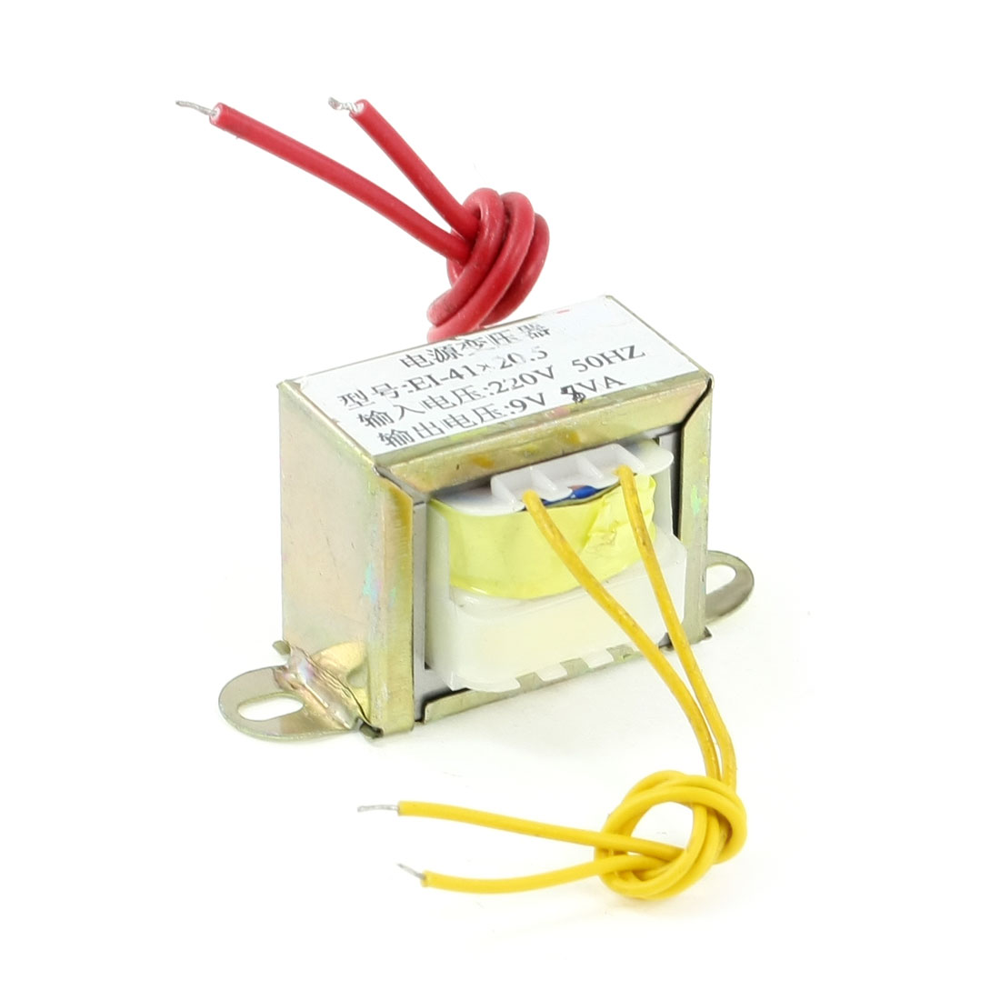 EI Core 220V 50Hz Input AC 9V 8VA Output EI-41x20.5 Power Transformer