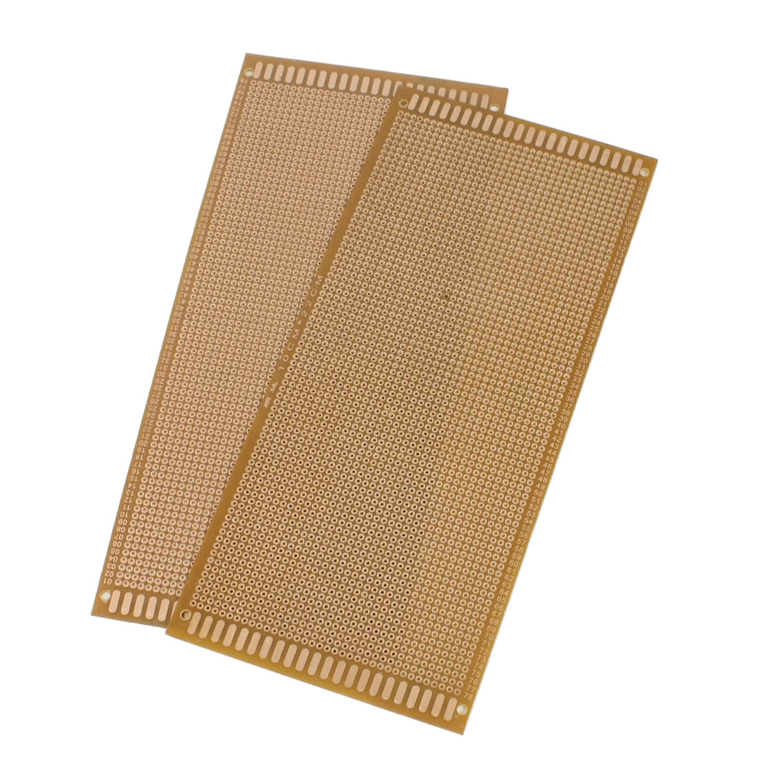 2 Pcs Copper Tone Prototyping PCB Print Circuit Board 10cm x 22cm