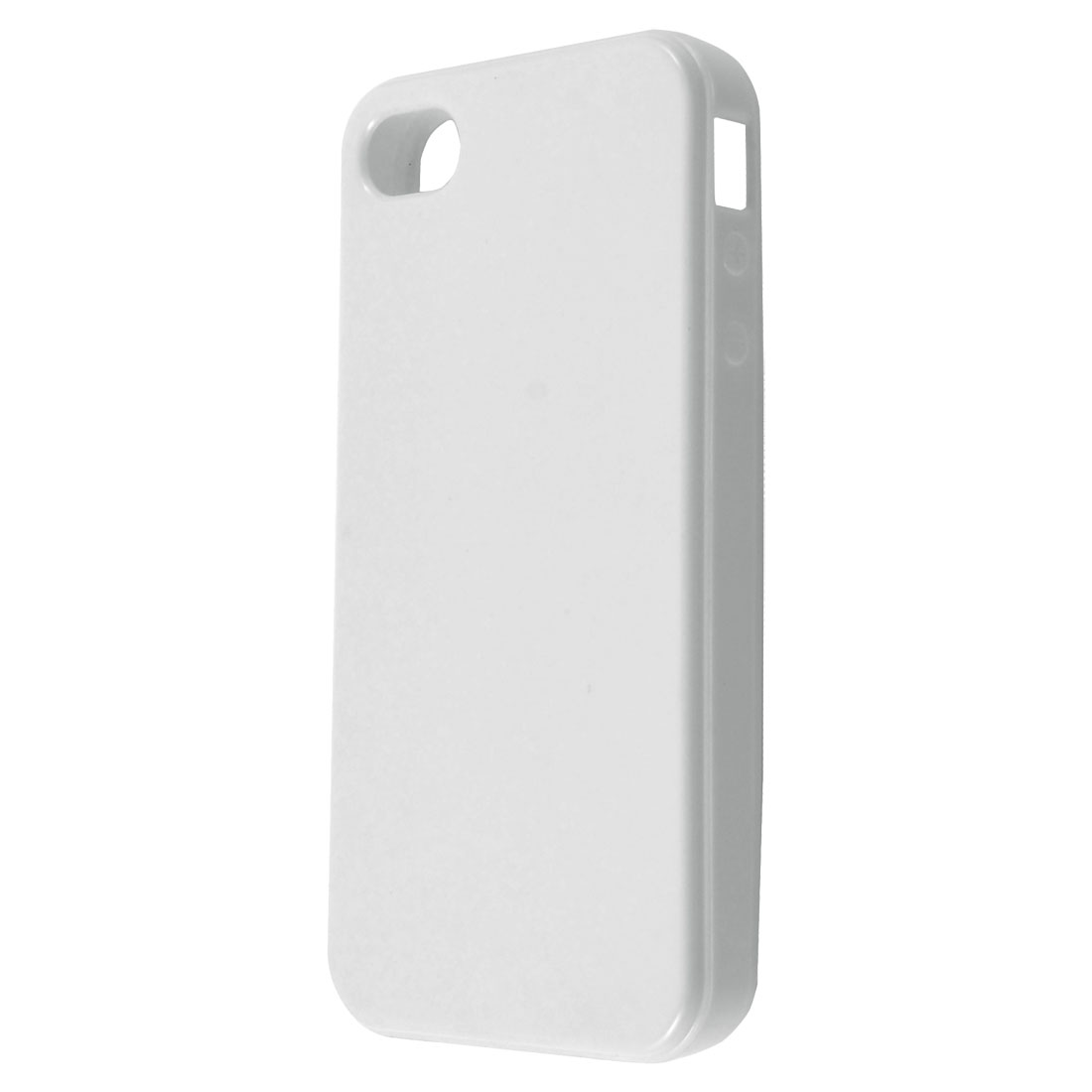 White TPU Soft Case Cover Protector for Apple iPhone 4 4S