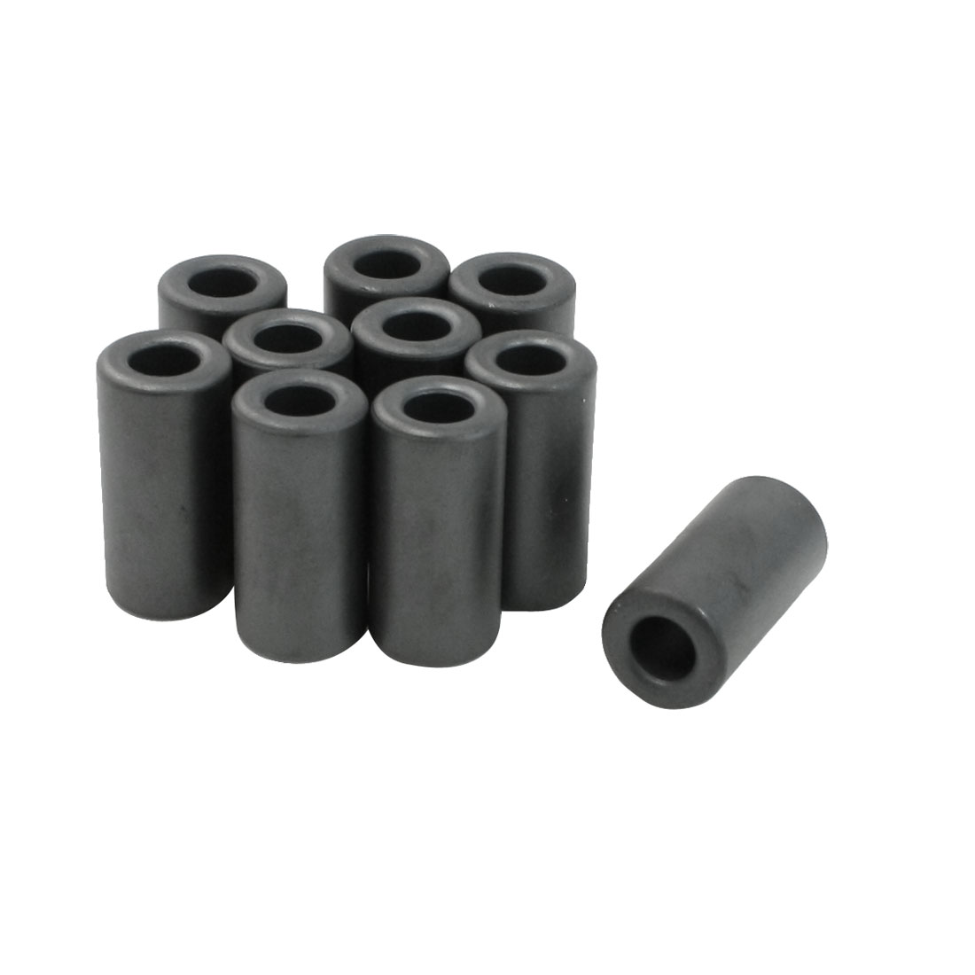 10 Pcs 14x7x28.5mm Toroid Ferrite Cores Dark Gray for Power Transformers