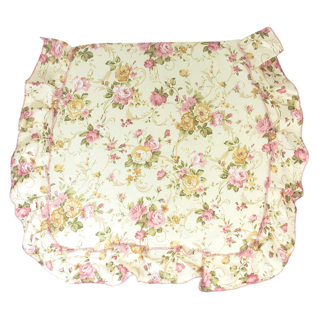Assorted Color Flower Pattern Zip Closure Fabric Sponge Seat Cushion