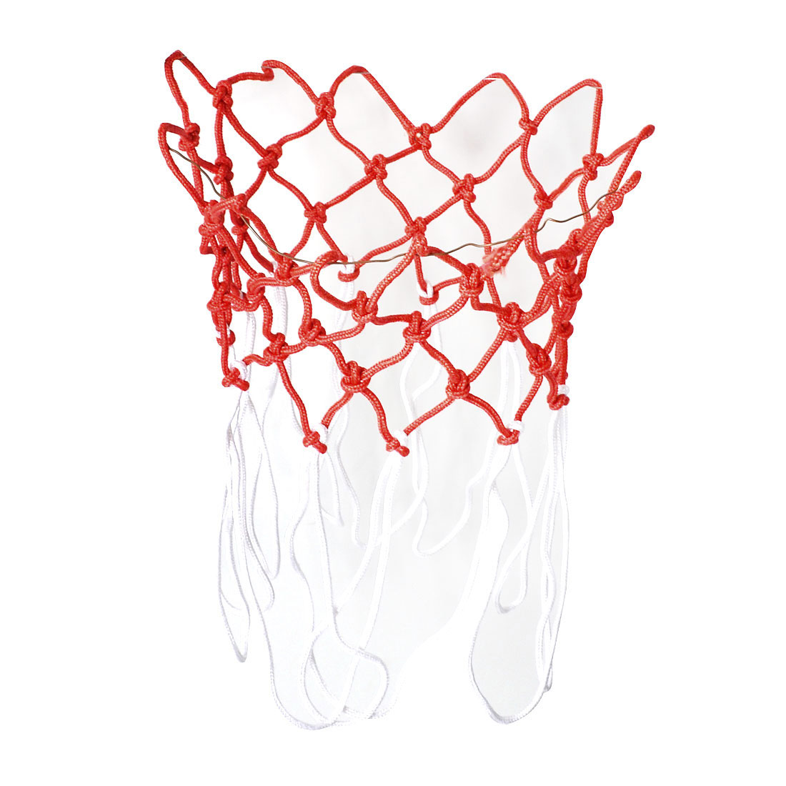 2 Pcs 44cm length Red White Braided Nylon Basketball Net