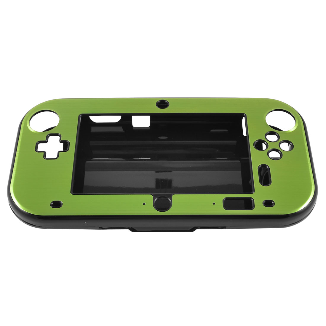 Green Aluminum Coated Black Hard Case Cover for Nintendo Wii U Gamepad
