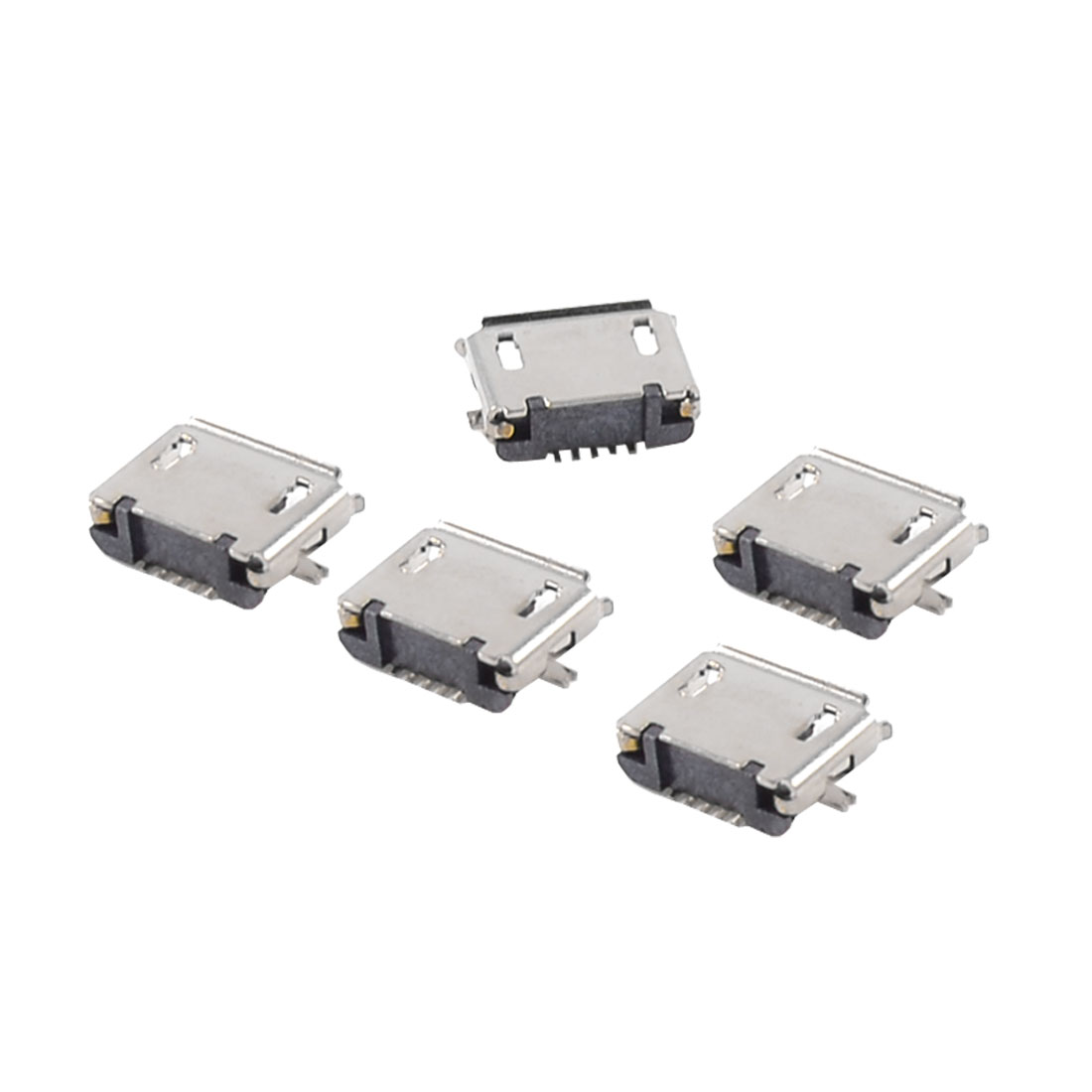 5pcs USB Micro Type-B 5pin Female Jack Connector SMT Socket Surface Mount