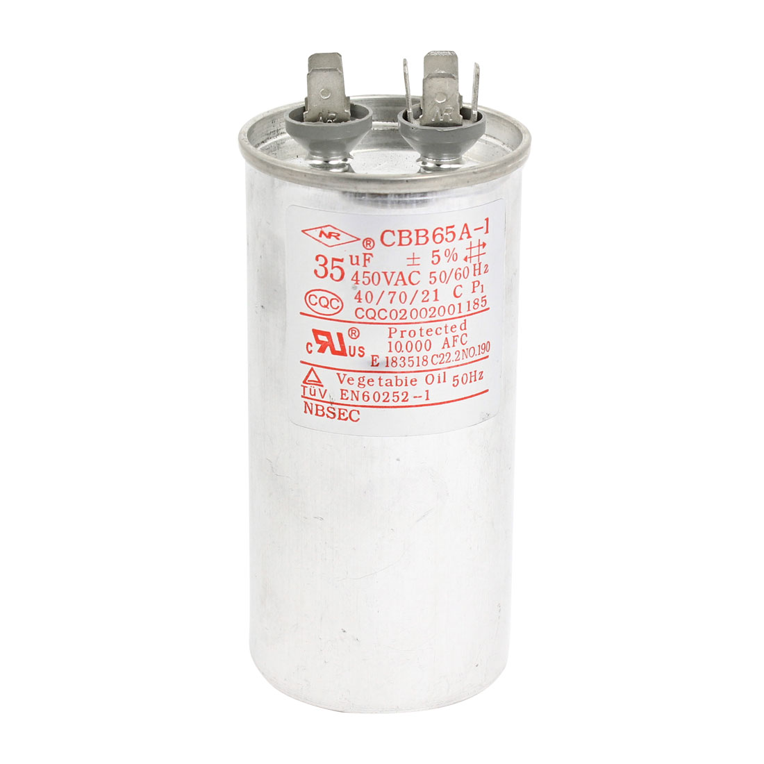 AC 450V 35uF Polypropylene Film Motor Run Capacitor for Air Conditioner