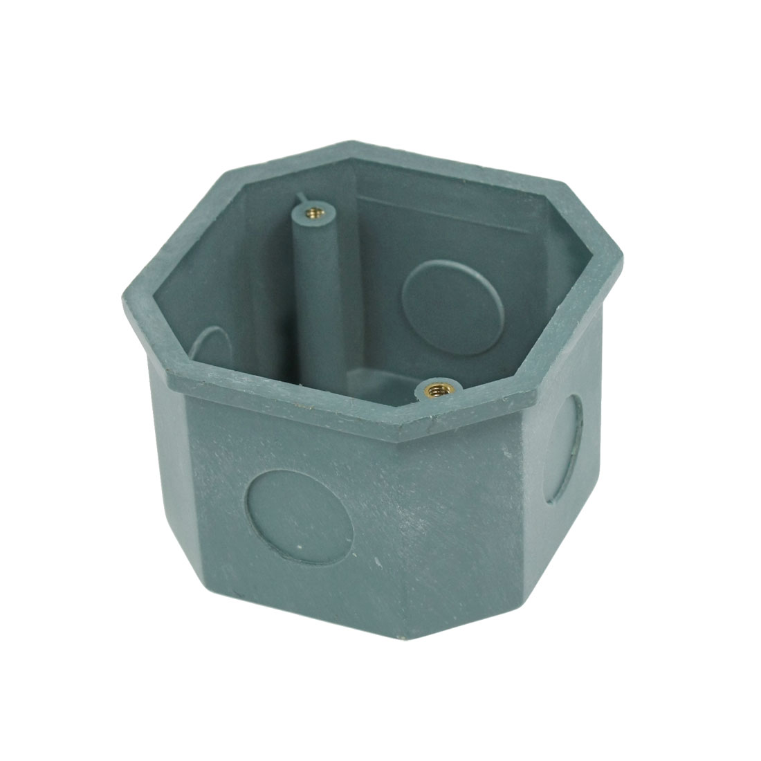 77x77x50mm Flush-Type Green PVC Single Gang Mount Back Box for Wall Socket