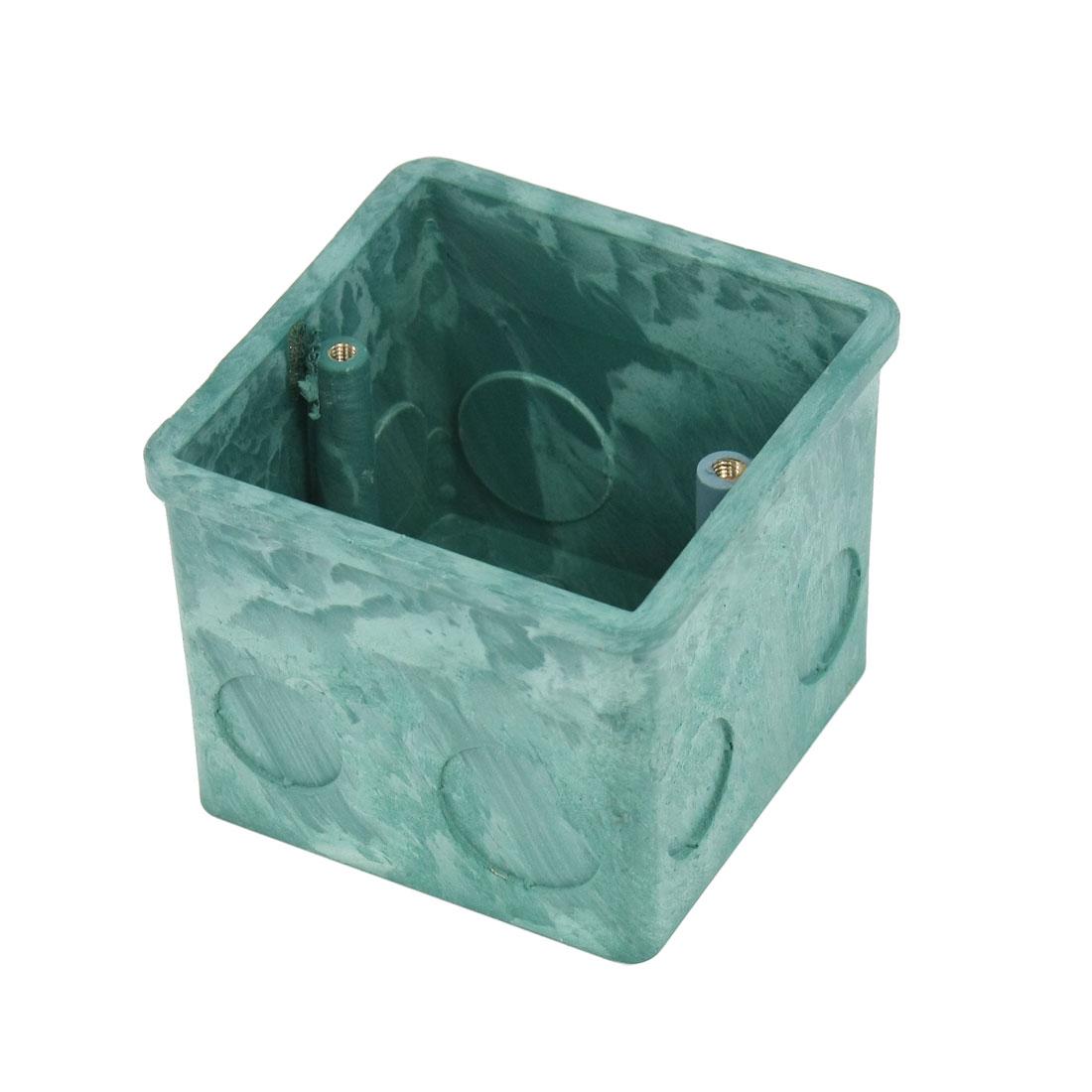 80x80x65mm Flush-Type PVC Single Gang Mount Back Box for Wall Socket