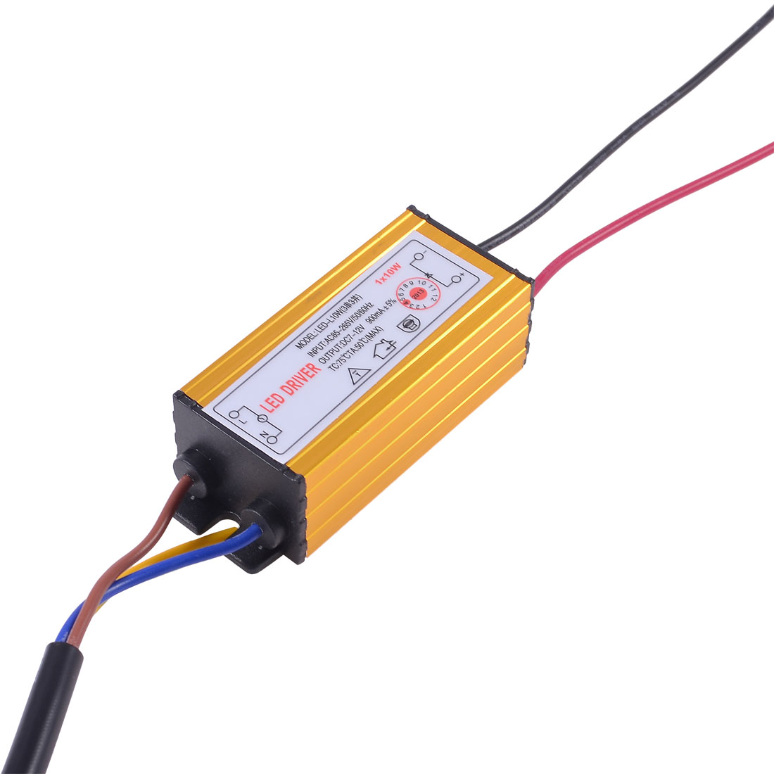 1x10W LED Light Driver IP66 Waterproof Power Supply DC7-12V 900mA