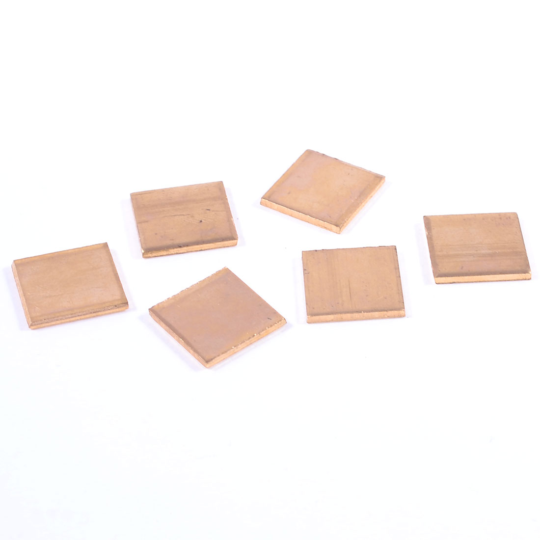 15mm x 15mm x 1.5mm Notebook Laptop GPU CPU Heatsink Copper Pad 6 Pcs