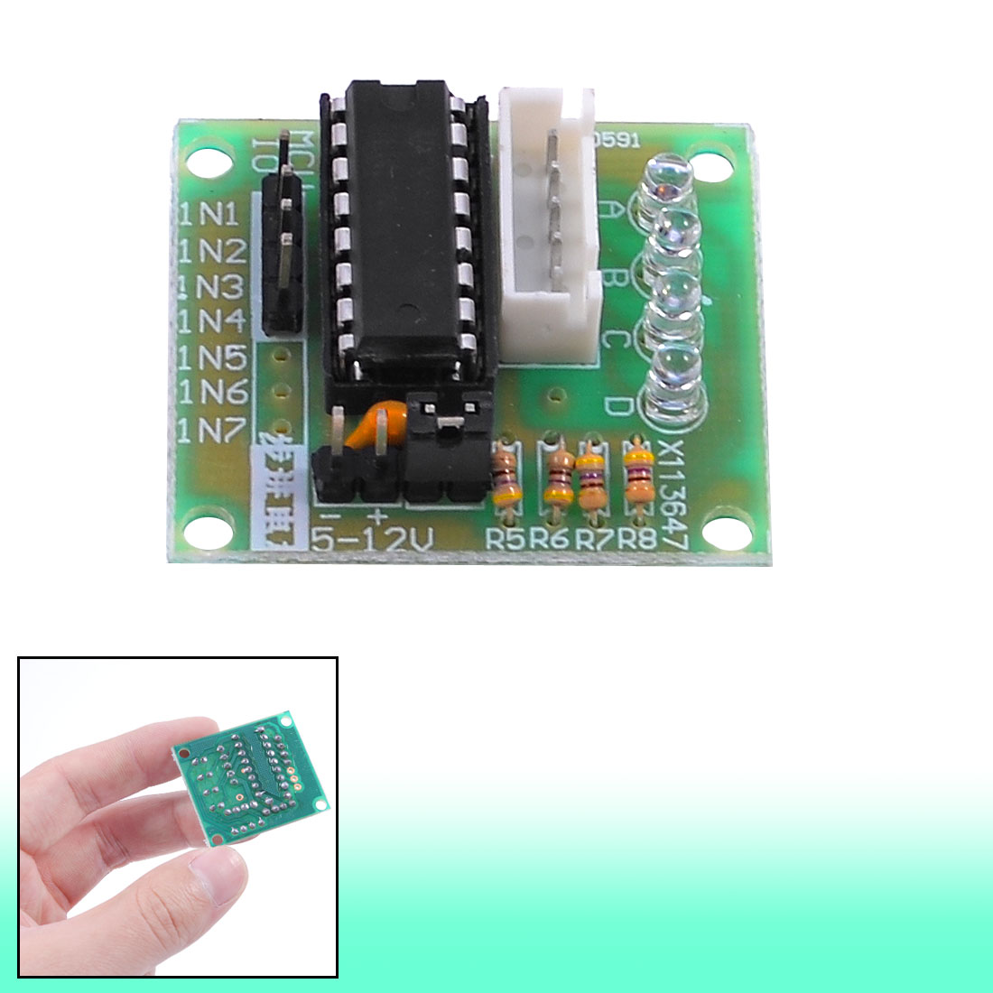 LED Indicator ULN2003 Driver Board for 5 Wire 4 Phase Stepper Motor