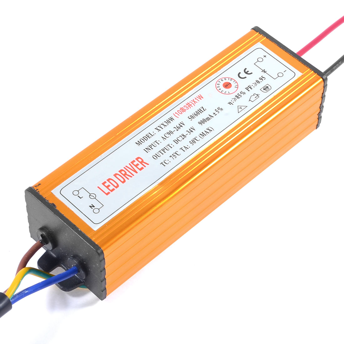 AC 90-264V DC 28-34V 900mA IP66 Power Supply Driver for 30W LED Strip Light