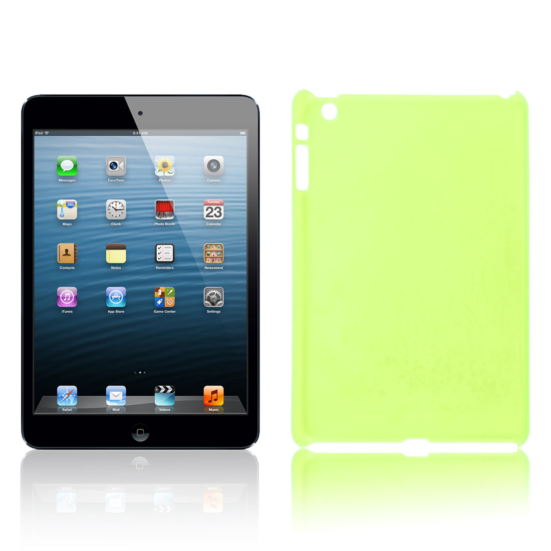 Clear Green Hard Plastic Back Case Cover Shell for Apple iPad Mini