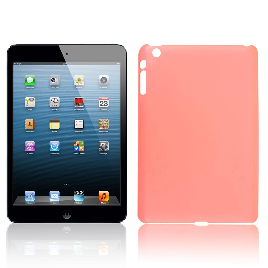 Protective Clear Orange Hard Back Case Cover Guard for Apple iPad Mini