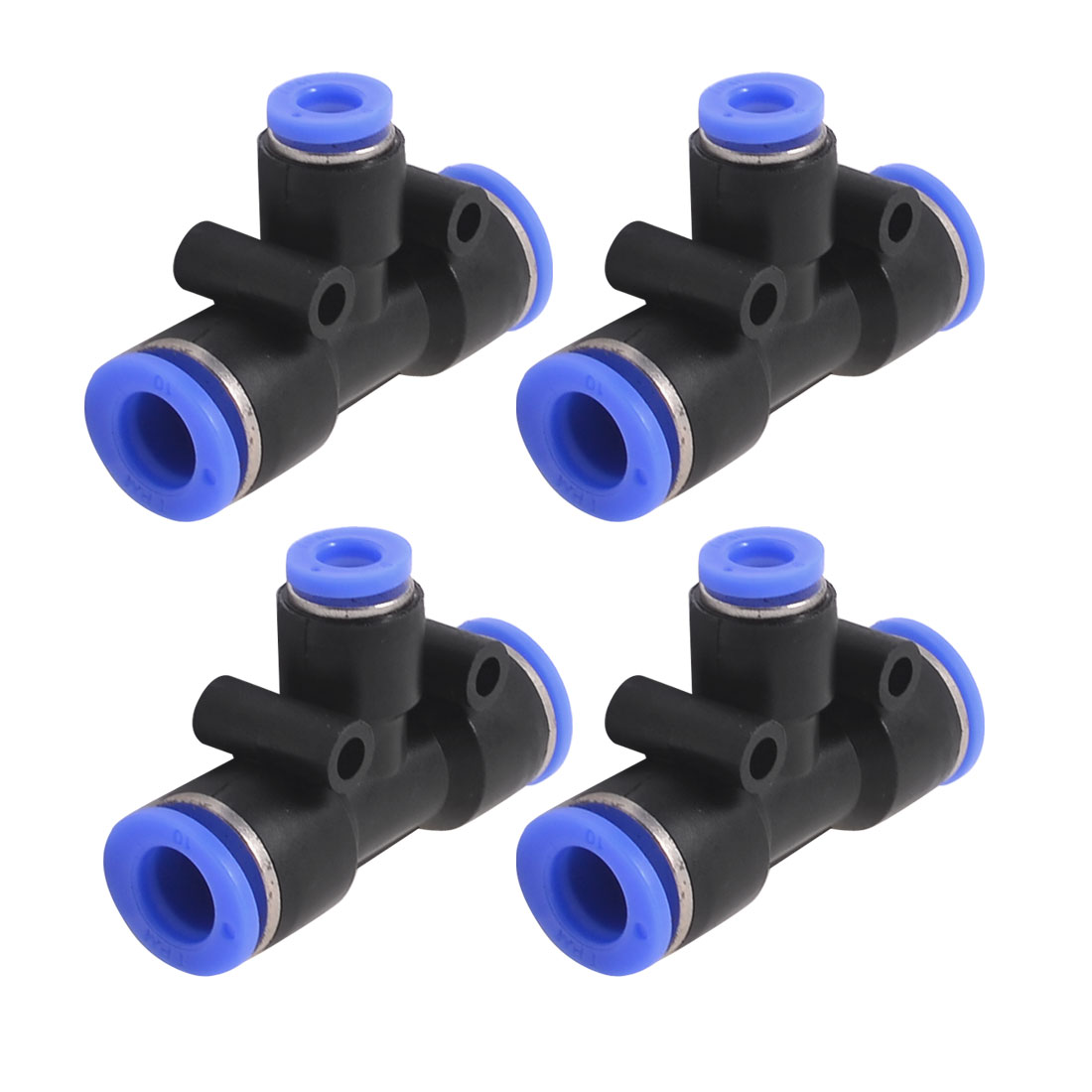 10mm x 6mm T Joint Pneumatic One Touch Tube Connector Quick Fittings Couplers 4PCS
