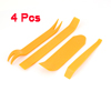 4 Pcs Yellow Hard Plastic Dismantle Tools for Car Loudspeaker AV System