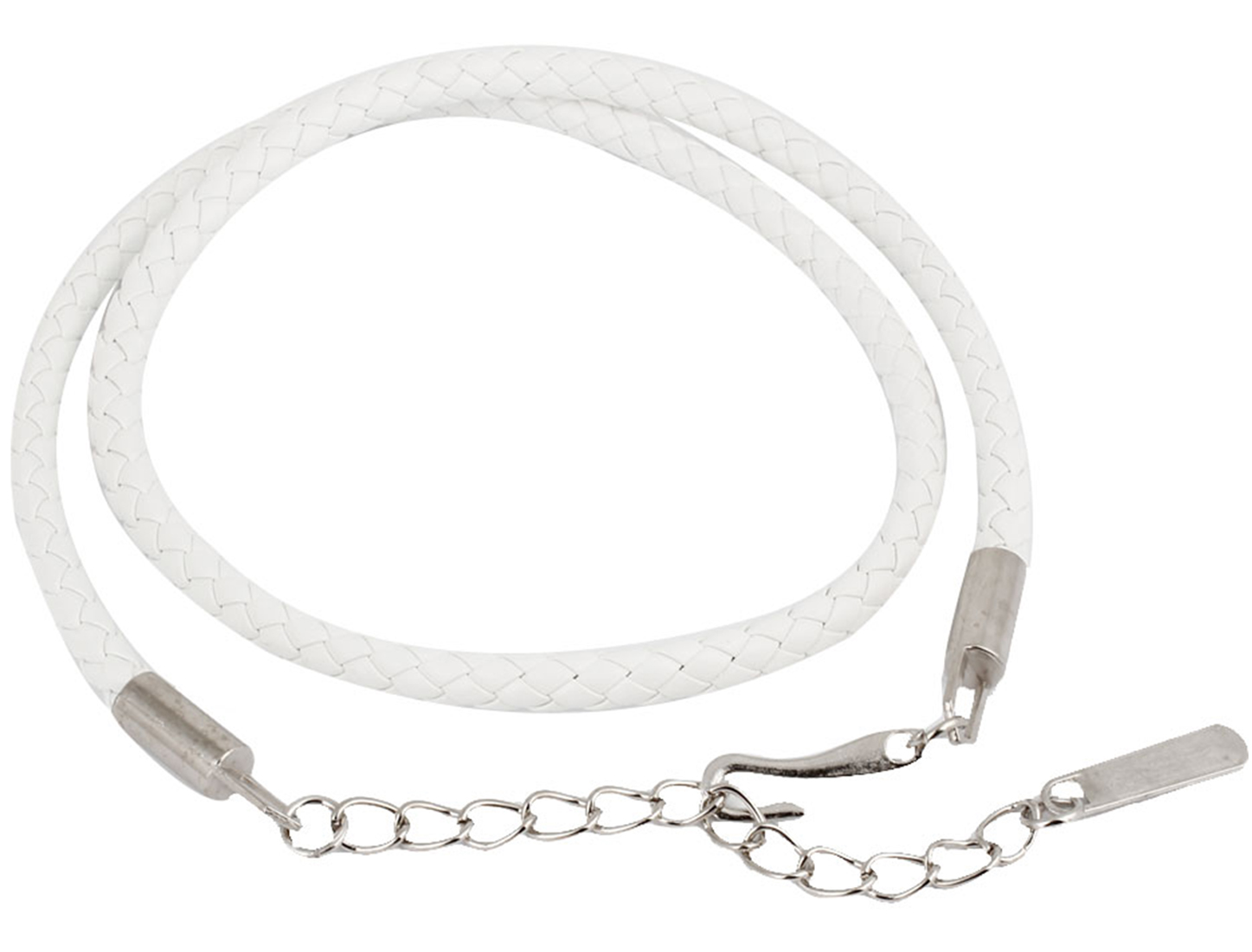 Women Braided Faux Leather Silver Tone Hook Buckle High Waist Belt White