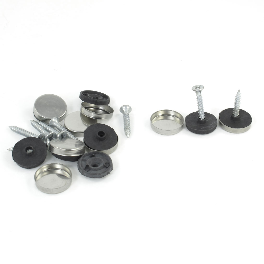 8 Pcs 19mm Diameter Cap Metal Screw Nails for Mirror