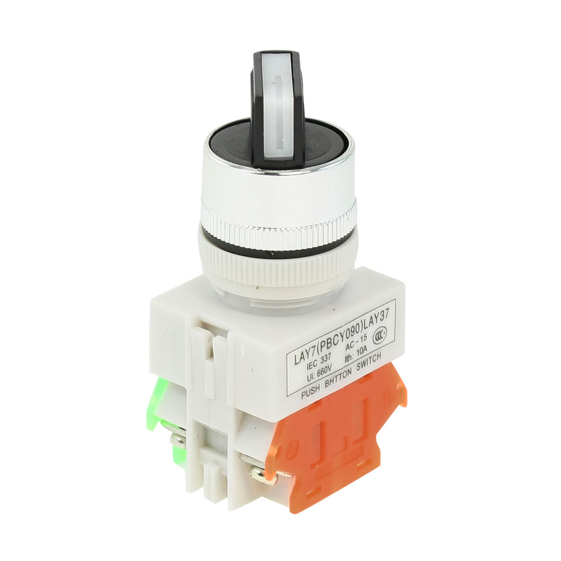 Ith 10A Ui 660V Rotary 2 Positions NC/NO Universal Push Button Switch