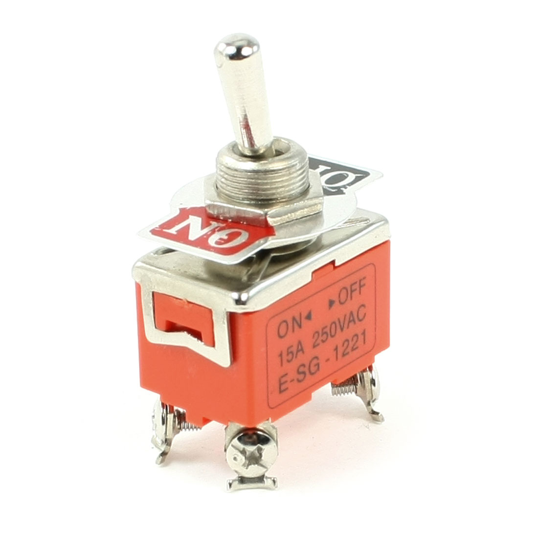 DPST ON/OFF 2 Position 4 Screw Terminals Toggle Switch AC 250V 15A