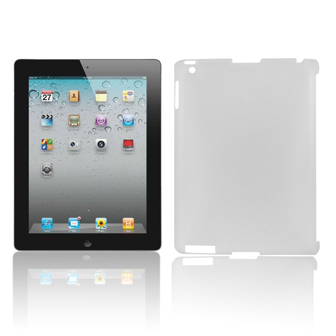 Clear Hard Plastic Back Case Cover Protector for Apple iPad 2 3