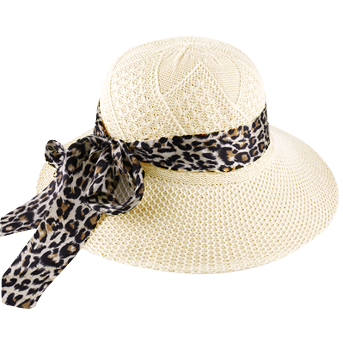 Ladies Chic Breathable Design Hollow Out Beige Summer Sun Hat