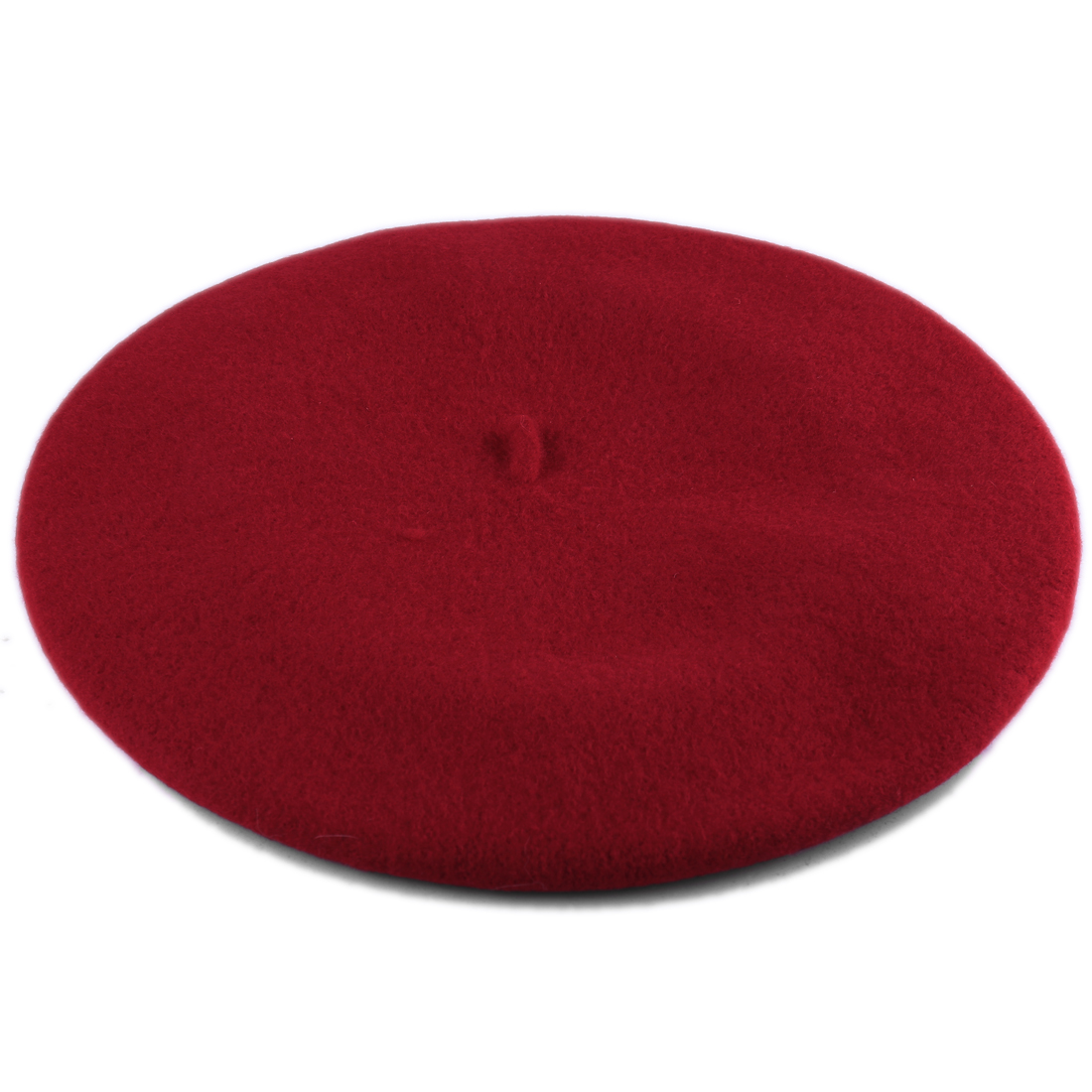 Fashionable Laides Thick Lightweight Wool Beret Red