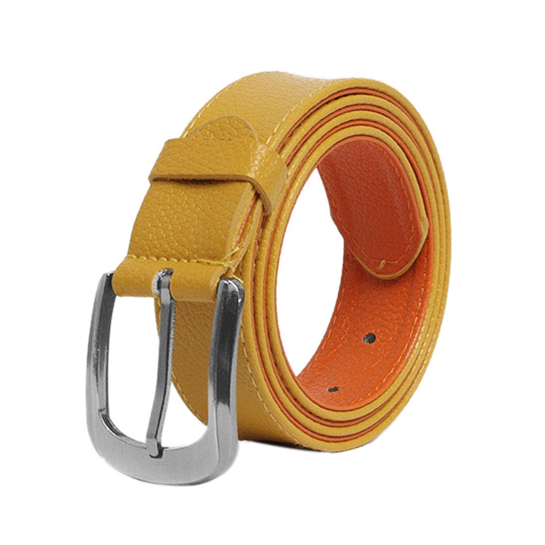 Mens Ladies Mustard Yellow Versatile Everyday Wearing Waist Belt