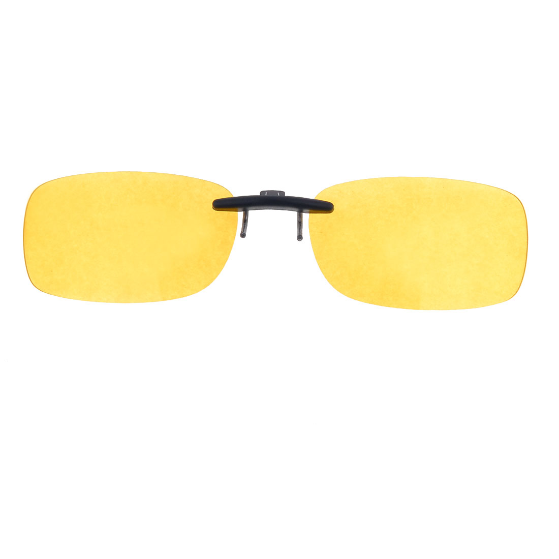Outdoor Sports Unisex Plastic Polarized Lens Clip On Sunglasses Clear Yellow