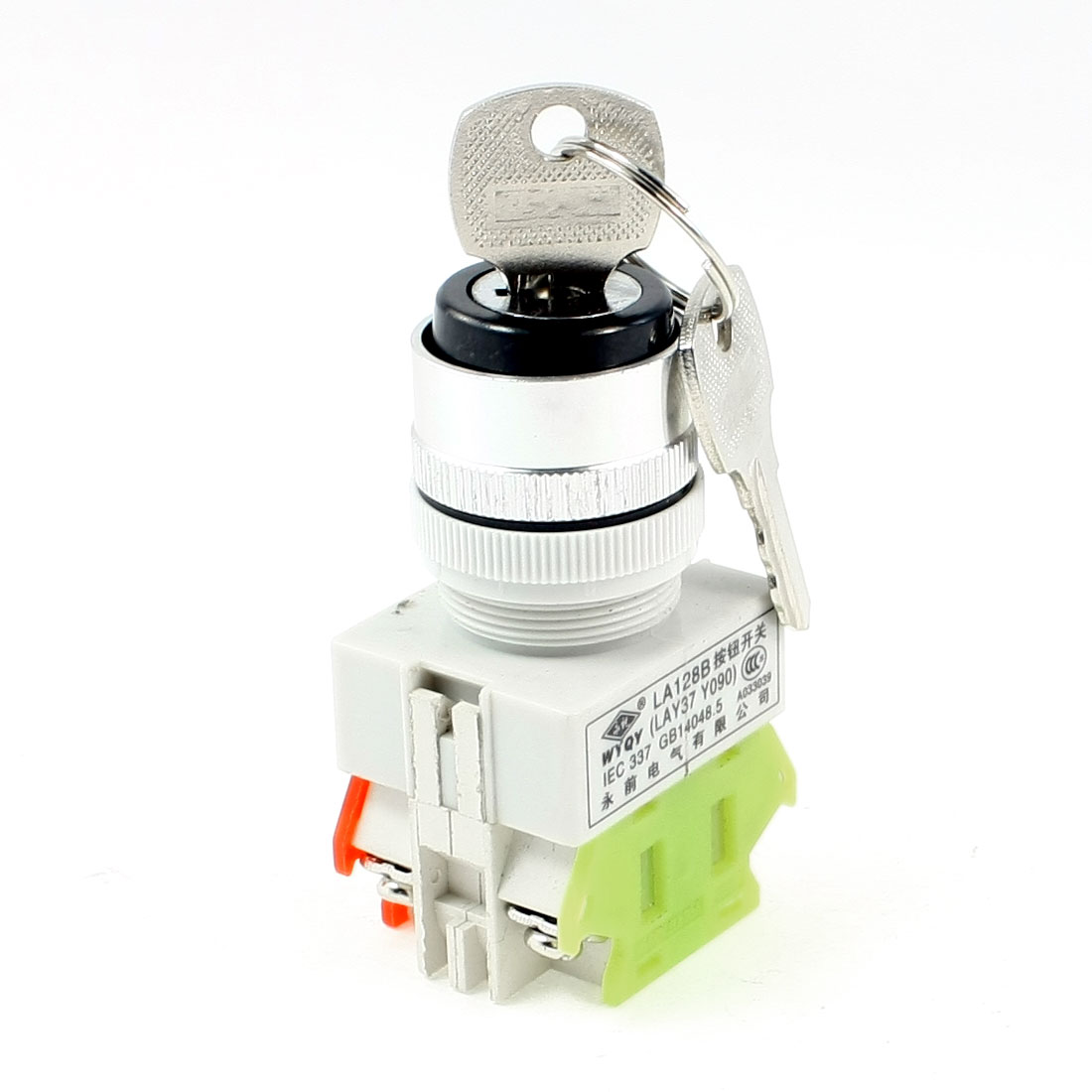 AC 660V 10A 1NO 1NC DPST Key Rotary Start Locking Style Push Button Switch