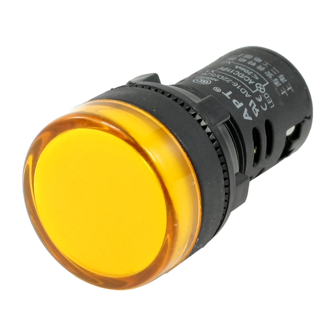 20mA Plastic Cover Industrial Yellow Light Signal Lamp AD16-22D/S26 AC/DC 110V