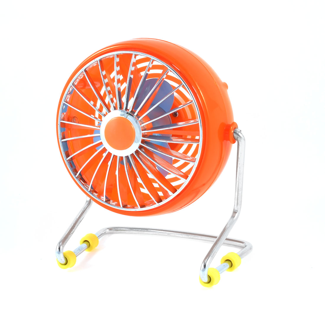 Portable Notebook Laptop Copmuter Cooler Mini USB Desk Fan Orange 4""