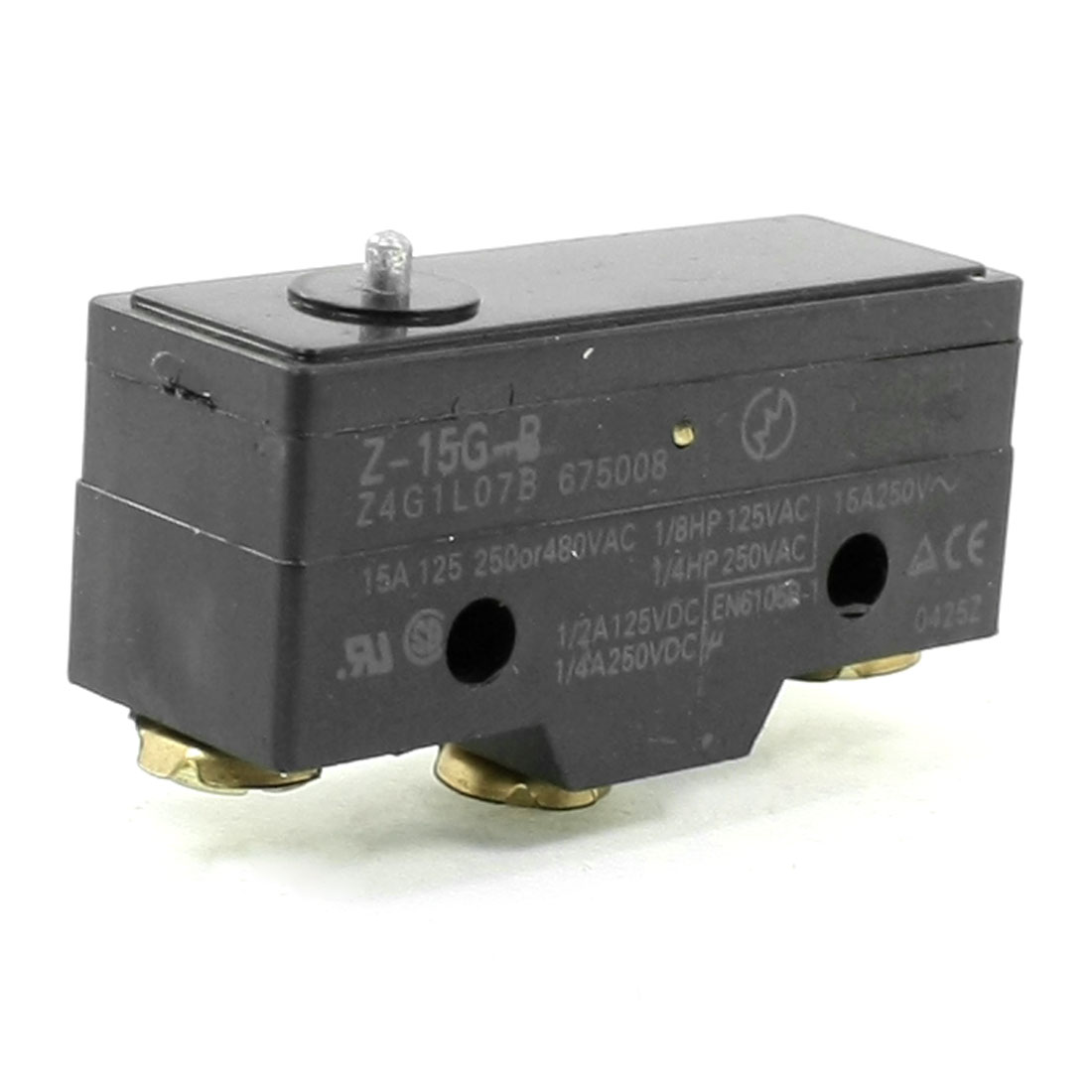 Z-15G-B 3 Screw Terminals Short Push Plunger Basic Micro Limit Switch
