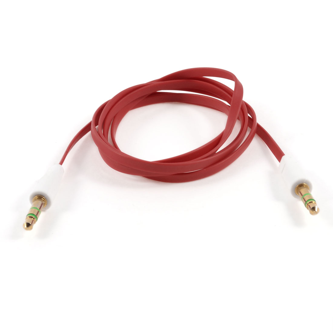 1M Long 3.5mm Male to 3.5mm Male Plug Stereo Audio Flat Extension Cable Red