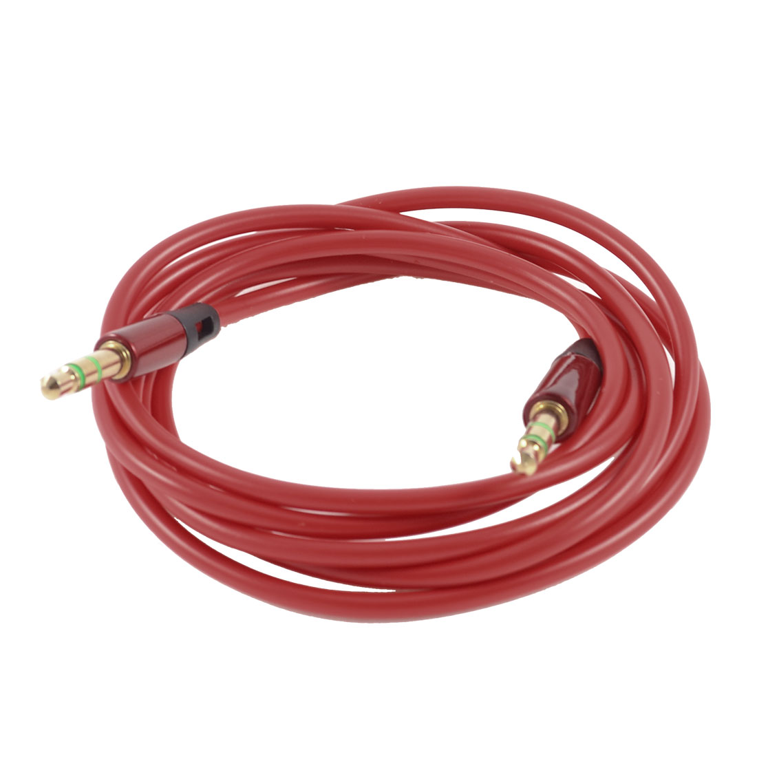 125cm Long 3.5mm Male to 3.5mm Male Plug Audio Round Extension Cable Red