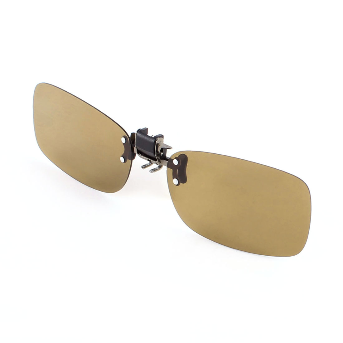 Brown Polarized Lens Eye Protector Clip on Leisure Sunglasses for Women Men