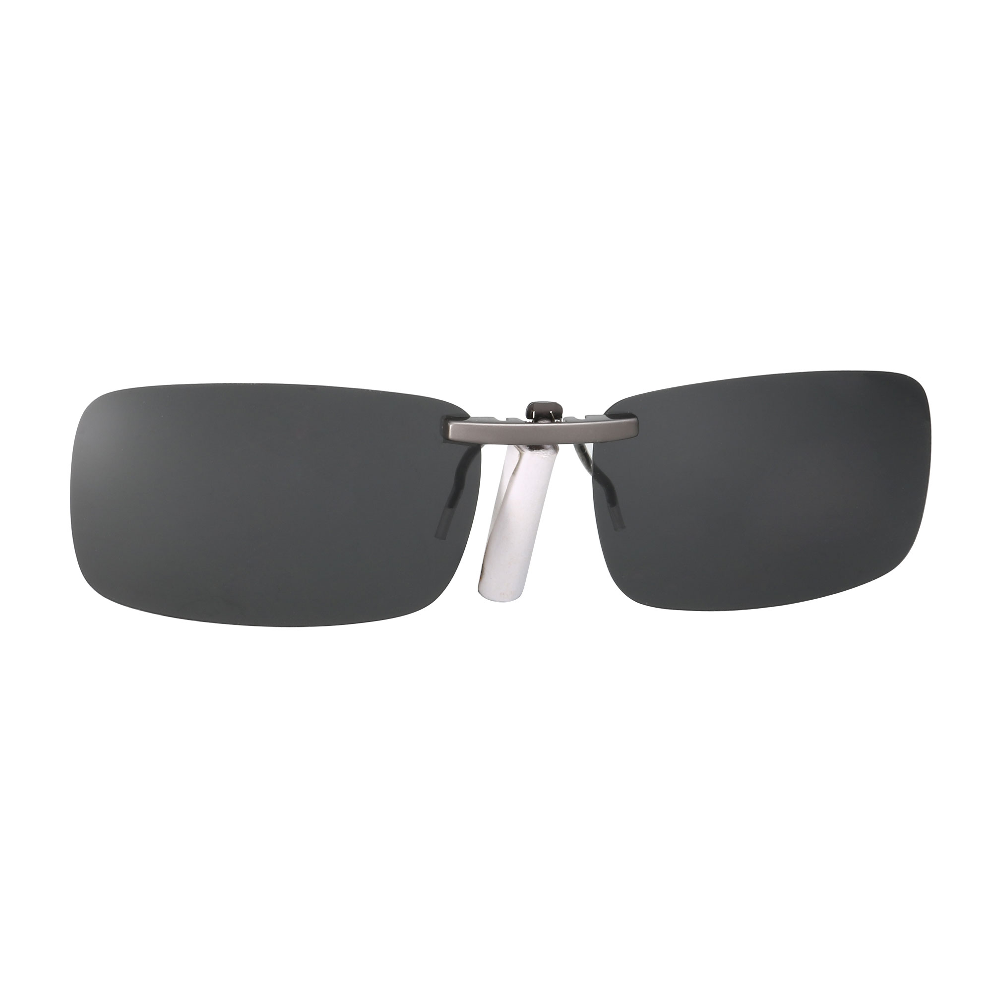 Unisex Clear Black Polarized Lens Sunglasses Clip On Eyeglasses