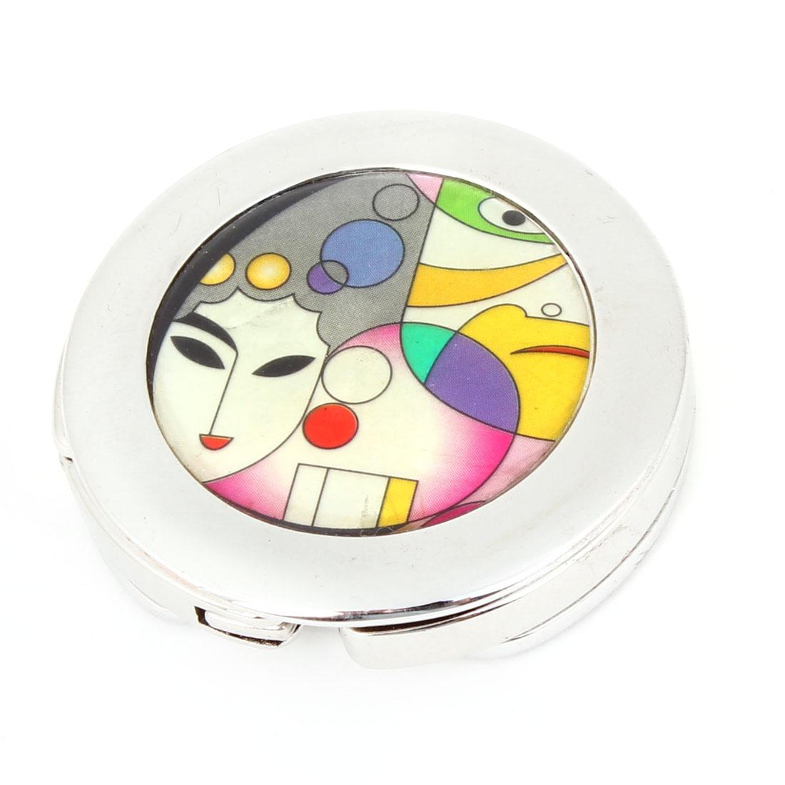Lady Assorted Color Dot Pattern Rubber Base Metal Handbag Hook Hanger