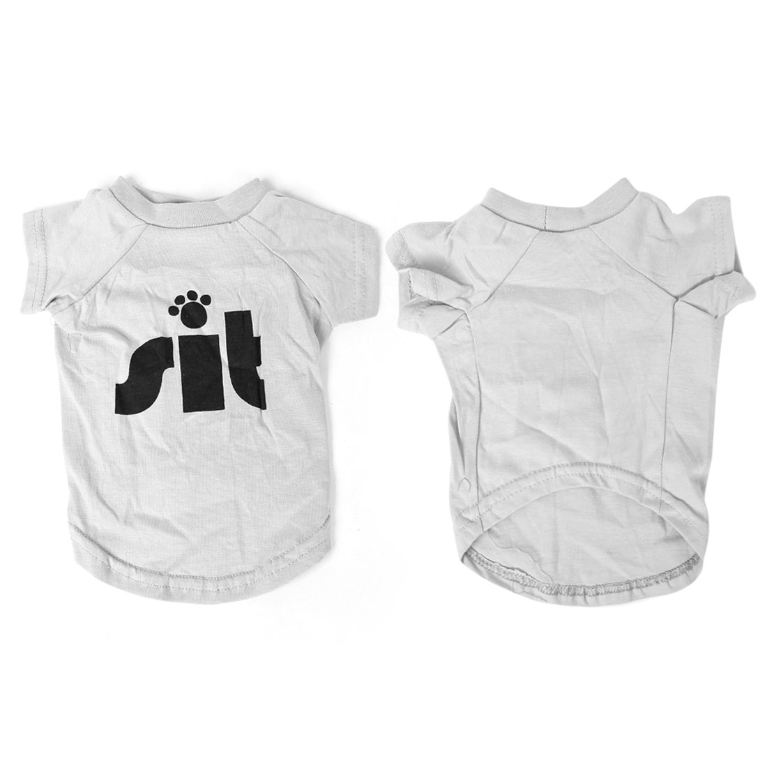 Claw Pattern Dog Chihuahua Summer Tee Shirt Pet Puppy Clothes Gray M