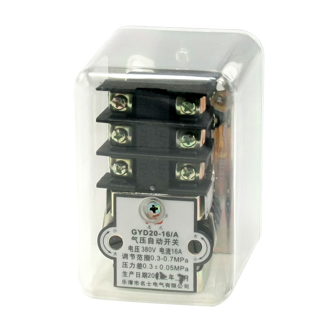"AC 380V 16A G3/8"" 50-100PSI 1-Port Air Compressor Automatic Pressure Switch Valve"
