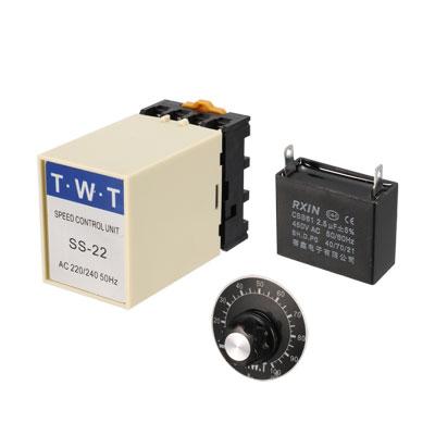AC 220V/240V Motor Speed Controller + 20K Ohm Potentiometer + 2.5uF Capacitor