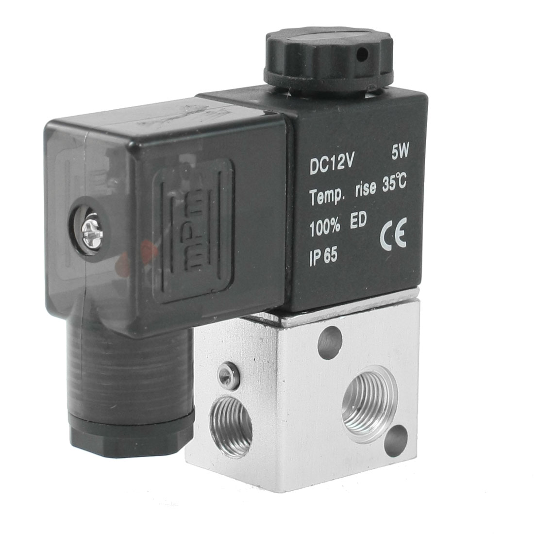 "DC 12V 5W 1/8""PT Thread 2 Position 3 Way Pneumatic Electric Solenoid Valve"