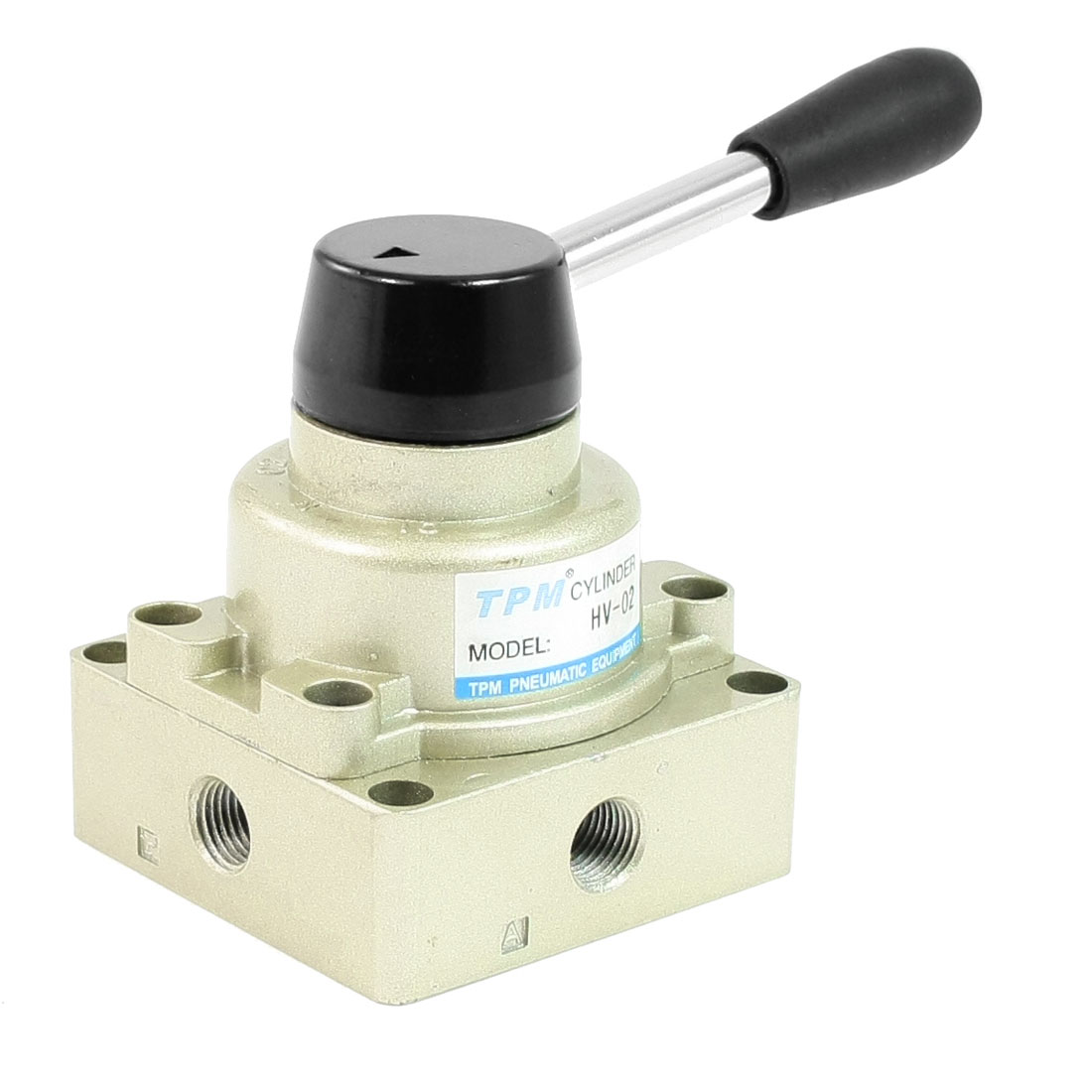 "HV-02 1/4""PT Direct Action 3 Position 2 Way Pneumatic Hand Lever Turn Valve"
