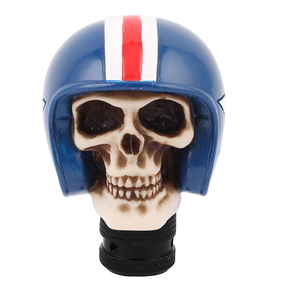 Blue Cap Skull Head Shape Stick Gear Shift Knob Shifter Cover for Car Auto